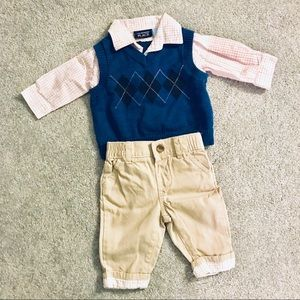 The Children's PLACE business casual outfit 0-3M
